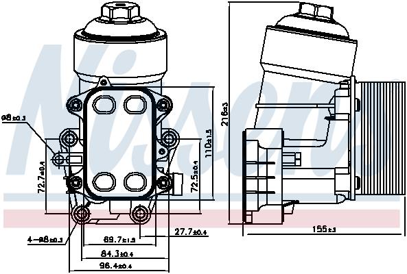 Olejový chladič, motorový olej